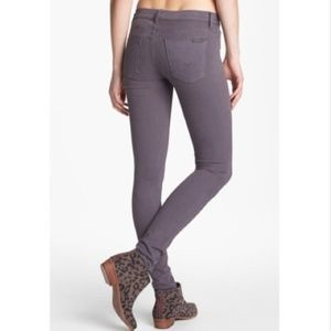Hudson Colette Midrise Skinny Jeans Steel Gray 25